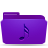 folder violet music Png Icon