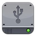 Disk Silver USB Png Icon