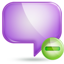 chat 1 minus Png Icon