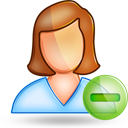 user female minus Png Icon