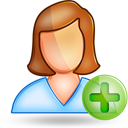 user female plus Png Icon
