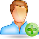 user male plus Png Icon