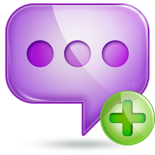 chat 2 plus large png icon