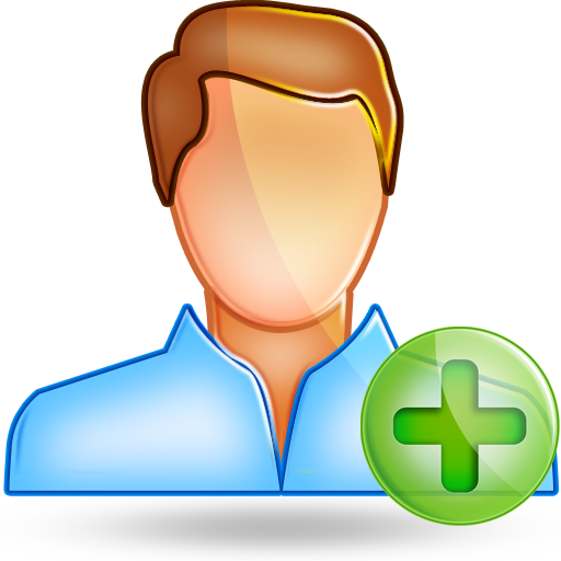 user male plus large png icon