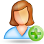user female plus large png icon