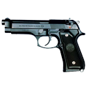pistol m9 500 Png Icon