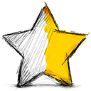 star half right Png Icon