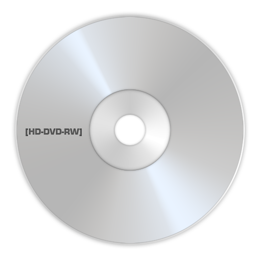 HD DVD RW large png icon