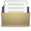 manilla document open png icon