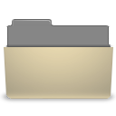 manilla folder open Png Icon