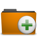 orange add folder to archive Png Icon