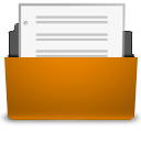 orange document open png icon