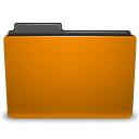 orange folder png icon