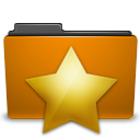 orange folder bookmarks png icon