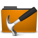 orange folder development png icon