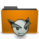 orange folder deviant ART png icon