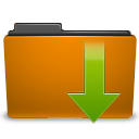 orange folder downloads png icon