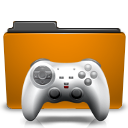 orange folder games Png Icon