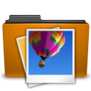 orange folder image Png Icon
