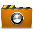 orange folder locked png icon