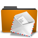 orange folder mail png icon