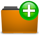orange folder new png icon