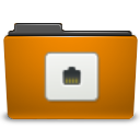 orange folder remote png icon