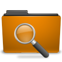 orange folder saved search png icon