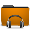 orange folder sound Png Icon