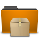 orange folder tar png icon