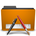 orange folder txt png icon