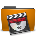 orange folder video Png Icon