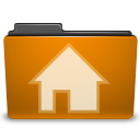 orange user home Png Icon