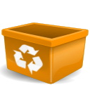 orange user trash png icon