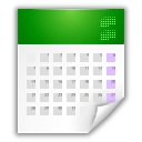 x office calendar Png Icon