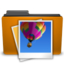 orange folder image large png icon