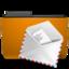 orange folder mail large png icon