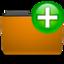 orange folder new large png icon