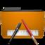 orange folder txt large png icon