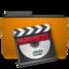 orange folder video large png icon