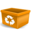 orange user trash large png icon