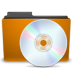 orange folder cd large png icon