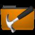 orange folder development large png icon