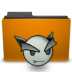 orange folder deviant ART large png icon