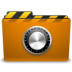 orange folder locked large png icon