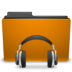 orange folder sound large png icon