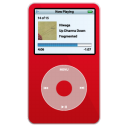 iPod Video Red Png Icon
