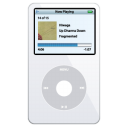 iPod Video White Png Icon