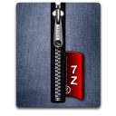 7Z silver blue Png Icon