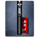 Arj silver blue Png Icon